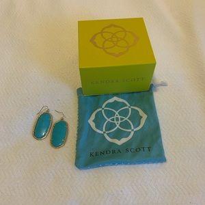 Kendra Scott Danielle Earrings, Gold/Turquoise